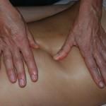 Massage profond des para-vertébraux